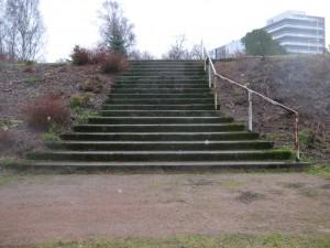 Jokipuisto kuva 1a ennen peruskorjausta kuva Kotkan puistotoimen arkisto